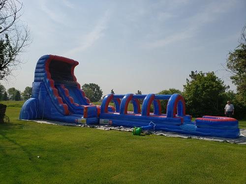 18' water slide rental with slip n slide