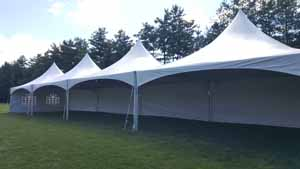 20x80 high peak frame tent with side panels & 20x80 Frame Tent Rentals