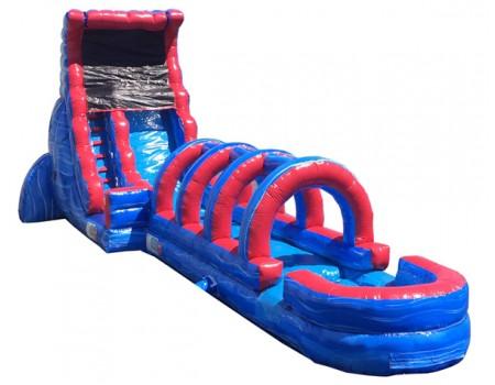 18' Tsunami Screamer Slide w/ 31' Slip N Slide